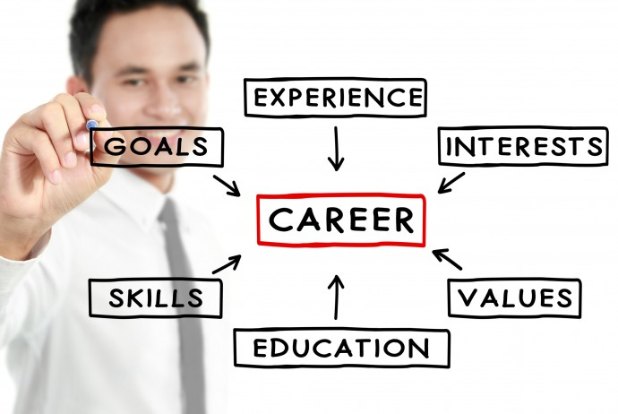 Businessman career concept